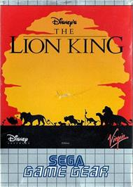 Box cover for Lion King on the Sega Game Gear.