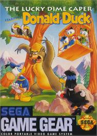 Box cover for Lucky Dime Caper starring Donald Duck on the Sega Game Gear.