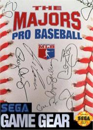 Box cover for Majors Pro Baseball on the Sega Game Gear.