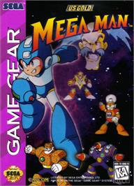 Box cover for Mega Man on the Sega Game Gear.