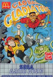 Box cover for Mick & Mack as the Global Gladiators on the Sega Game Gear.