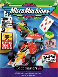 Box cover for Micro Machines on the Sega Game Gear.