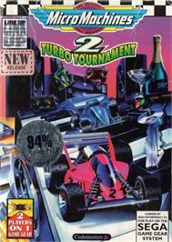Box cover for Micro Machines 2: Turbo Tournament on the Sega Game Gear.