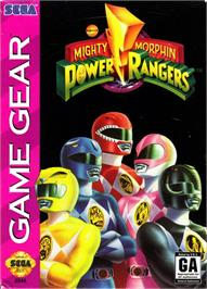 Box cover for Mighty Morphin Power Rangers on the Sega Game Gear.