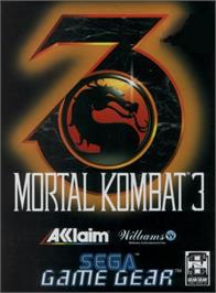 Box cover for Mortal Kombat 3 on the Sega Game Gear.