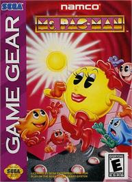 Box cover for Ms. Pac-Man on the Sega Game Gear.