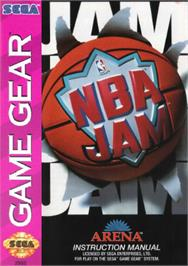 Box cover for NBA Jam on the Sega Game Gear.