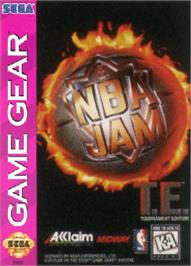 Box cover for NBA Jam TE on the Sega Game Gear.
