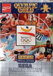 Box cover for Olympic Gold: Barcelona '92 on the Sega Game Gear.