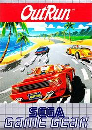 Box cover for Out Run on the Sega Game Gear.