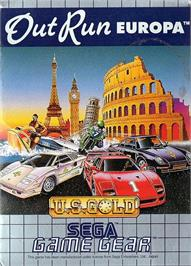 Box cover for Out Run Europa on the Sega Game Gear.