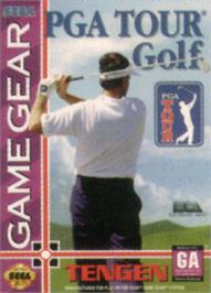 Box cover for PGA Tour Golf on the Sega Game Gear.