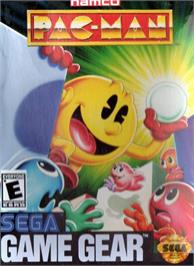 Box cover for Pac-Man on the Sega Game Gear.