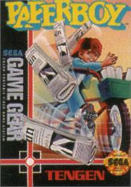 Box cover for Paperboy on the Sega Game Gear.