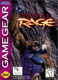 Box cover for Primal Rage on the Sega Game Gear.