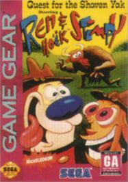 Box cover for Quest for the Shaven Yak starring Ren Hoëk & Stimpy on the Sega Game Gear.