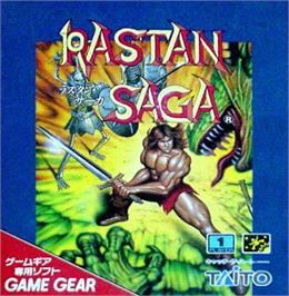 Box cover for Rastan Saga on the Sega Game Gear.