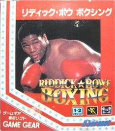 Box cover for Riddick Bowe Boxing on the Sega Game Gear.