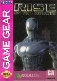 Box cover for Rise of the Robots on the Sega Game Gear.