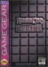 Box cover for Robocop vs. the Terminator on the Sega Game Gear.