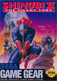 Box cover for Shinobi II: The Silent Fury on the Sega Game Gear.