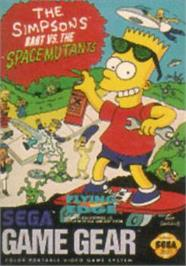 Box cover for Simpsons: Bart vs. the Space Mutants on the Sega Game Gear.