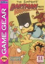 Box cover for Simpsons: Bartman Meets Radioactive Man on the Sega Game Gear.