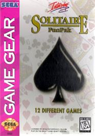 Box cover for Solitaire FunPak on the Sega Game Gear.