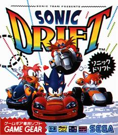 Box cover for Sonic Drift on the Sega Game Gear.