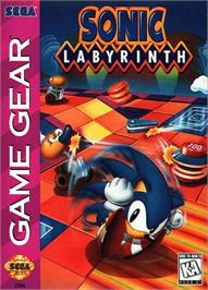 Box cover for Sonic Labyrinth on the Sega Game Gear.