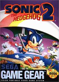 Box cover for Sonic The Hedgehog 2 on the Sega Game Gear.
