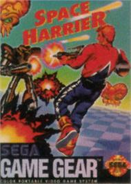 Box cover for Space Harrier on the Sega Game Gear.