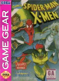 Box cover for Spider-Man and the X-Men: Arcade's Revenge on the Sega Game Gear.