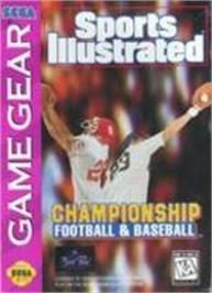 Box cover for Sports Illustrated Championship Football & Baseball on the Sega Game Gear.