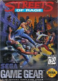 Box cover for Streets of Rage on the Sega Game Gear.