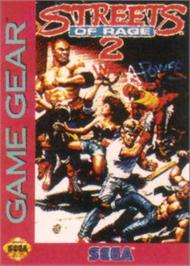 Box cover for Streets of Rage 2 on the Sega Game Gear.