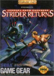 Box cover for Strider 2 on the Sega Game Gear.