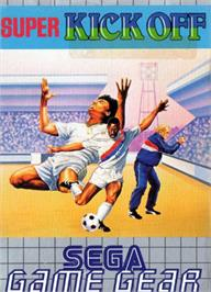 Box cover for Super Kick Off on the Sega Game Gear.