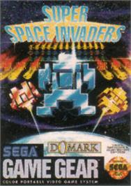 Box cover for Super Space Invaders on the Sega Game Gear.