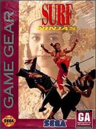 Box cover for Surf Ninjas on the Sega Game Gear.