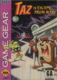Box cover for Taz in Escape from Mars on the Sega Game Gear.