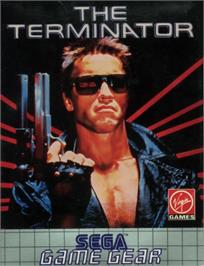 Box cover for Terminator on the Sega Game Gear.