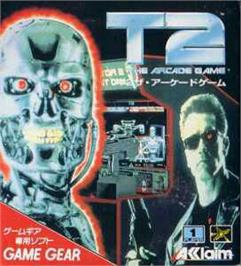 Box cover for Terminator 2 - Judgment Day on the Sega Game Gear.