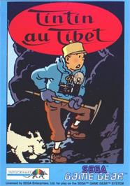 Box cover for Tintin in Tibet on the Sega Game Gear.