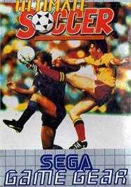 Box cover for Ultimate Soccer on the Sega Game Gear.