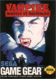 Box cover for Vampire: Master of Darkness on the Sega Game Gear.