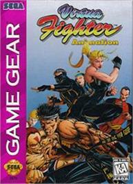 Box cover for Virtua Fighter Animation on the Sega Game Gear.