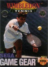 Box cover for Wimbledon Championship Tennis on the Sega Game Gear.