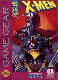 Box cover for X-Men on the Sega Game Gear.