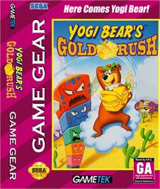 Box cover for Yogi Bear in Yogi Bear's Goldrush on the Sega Game Gear.